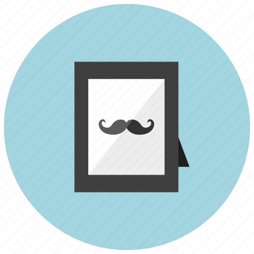 decoration, frame, hipster, home, moustache, picture icon