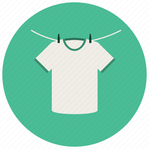 clothes, clothesline, dry, hanging, home, laundry, tshirt icon