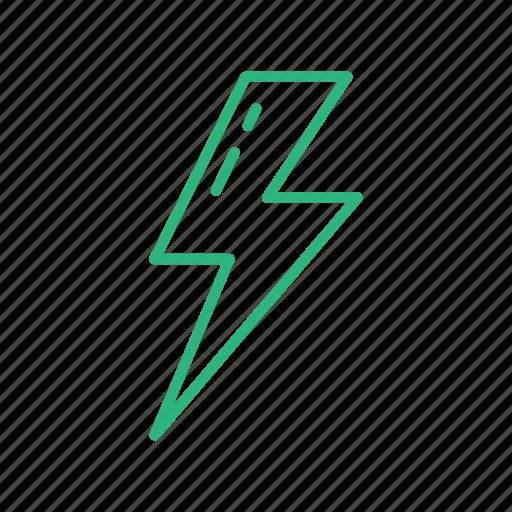 energy, lamp, light, lightning, power, weather icon