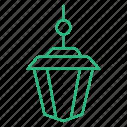 flat icon, lamp, lantern, light, lighting, wall lamp icon