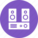audio, music, sound, speaker, stereo, system icon