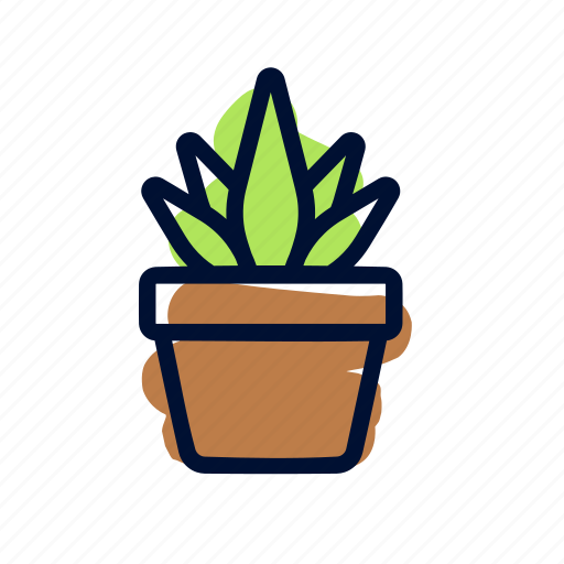 Plant, agriculture, pot icon