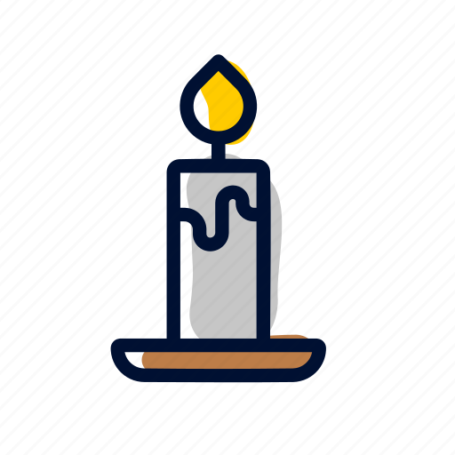 candle, fire, light, night icon