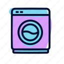 laundry, wash, washing machine icon