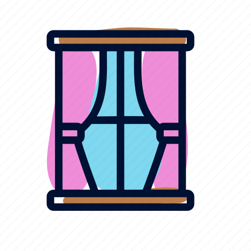 home, room, window icon