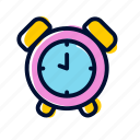 alarm, clock, time, wake up, wecker icon
