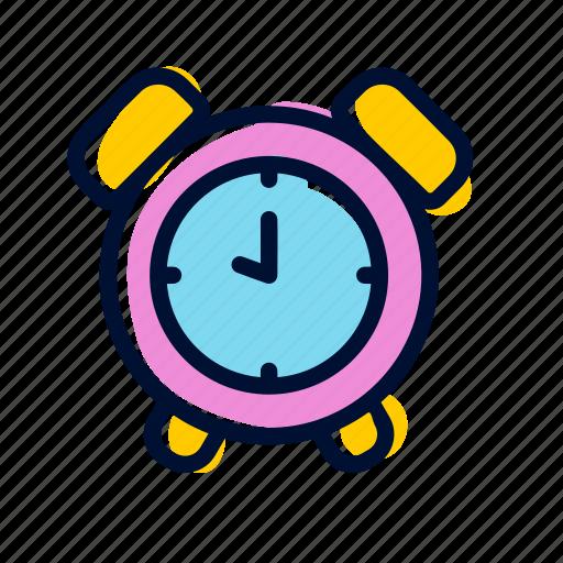 alarm, clock, time, wake up, wecker icon