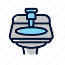handwash, toilet icon