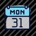 agenda, calendar, date icon