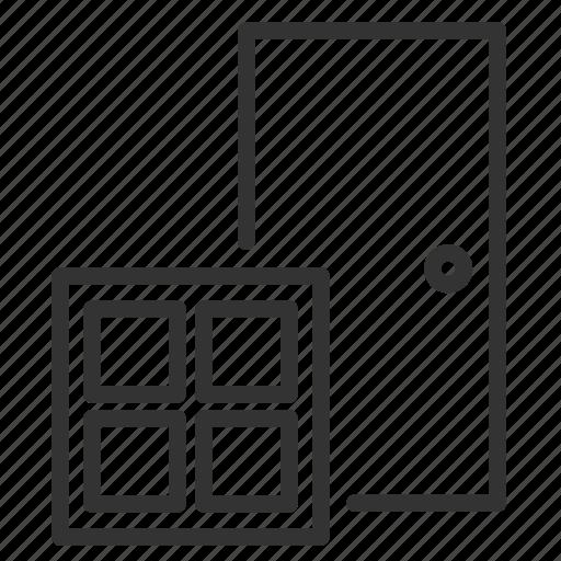 casing, construction, door, home, renovate, renovation, window icon