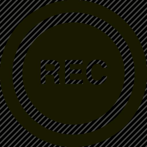 button, record, recording, security icon
