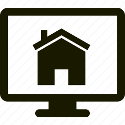 home, house, monitor, security icon