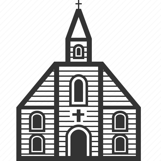 building, catholic, church, home, house, protestant, tower icon