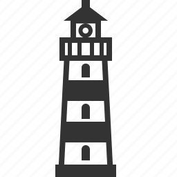 beacon, building, home, house, lighthouse, sea, tower icon