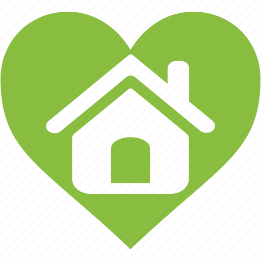 environment, good, heart, home, house, love, organic icon