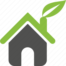 building, construction, family, green, home, house, organic icon
