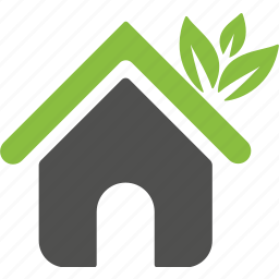 building, estate, family, green, home, house, plant icon