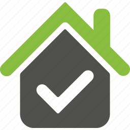 approved, check, environment, good, house, ok, organic icon