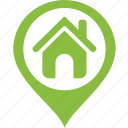 address, area, home, house, location, map, tag icon