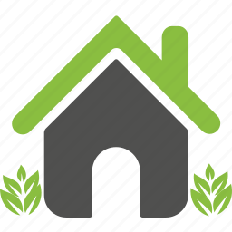 green, home, house, nature, organic, plants, weed icon