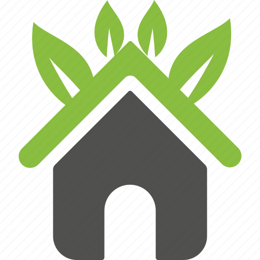 environment, estate, green, home, house, organic, plant icon