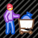 bag, beggar, cart, homeless, homelessness, people, shop