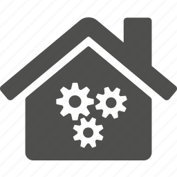 gear, gears, home, house, option, preference, tool icon