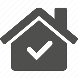 approved, building, check, home, house, ok icon