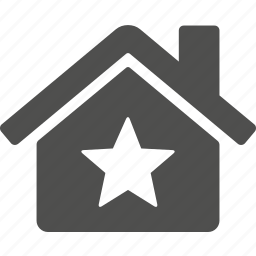 building, home, house, star icon