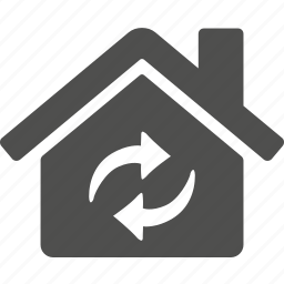 building, estate, home, house, refresh, reload icon