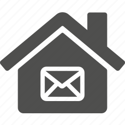 building, email, estate, home, house, mail, message icon