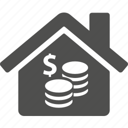 building, coin, dollar, estate, home, house, money icon