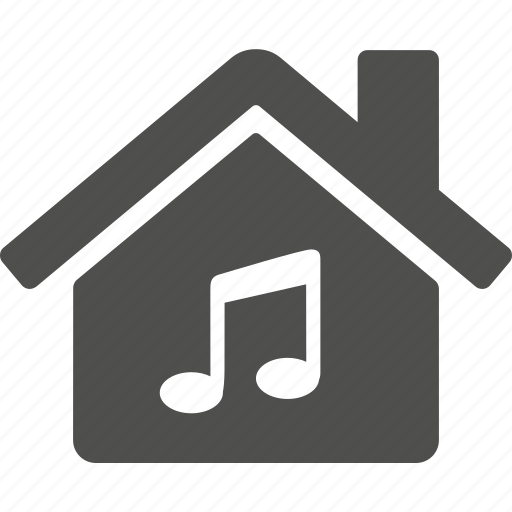 home, house, music, note icon