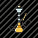 color, hookah, qalyan, smoke, tobacco, vapor, yellow icon