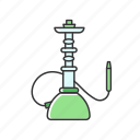 color, green, hookah, qalyan, smoke, tobacco, vapor icon