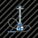 blue, color, hookah, qalyan, smoke, tobacco, vapor icon