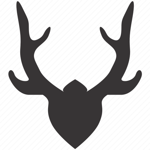 antlers, decoration, design, horns, interior, trophy icon
