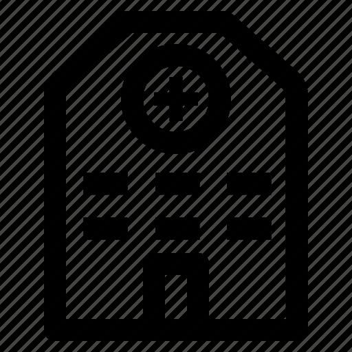 hospital, house, room icon