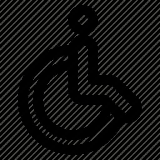 chair, hospital, wheel icon