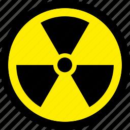 atomic, danger, nuclear, radiation, radioactive icon