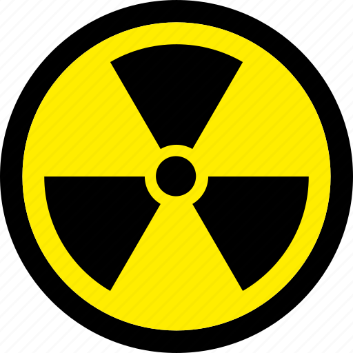 atomic, danger, nuclear, radiation, radioactive icon