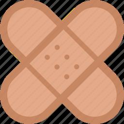 adhesive, aids, band, bandage, plaster, sticking, wound icon
