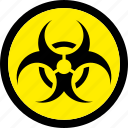 biohazard, biological, hazard, hazardous icon
