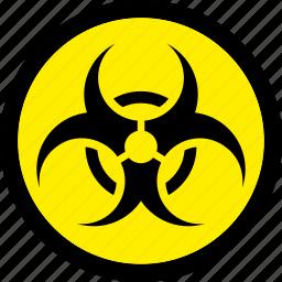 biohazard, biological, hazard, hazardous icon
