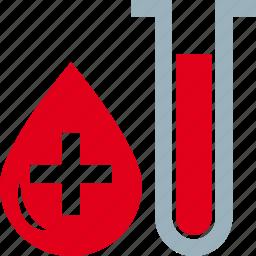 blood, exam, test, tube icon
