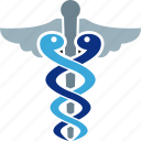 asclepius, caduceus, health, healthcare icon