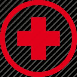 cross, health, hospital, medicine, sign icon