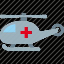 ambulance, emergency, helicopter, hospital icon