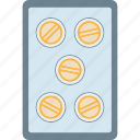lozenges, medicine, pellet, pill, strip, tablet icon