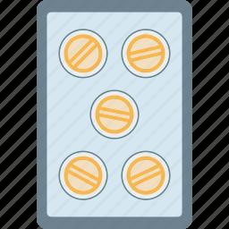 lozenges, medicine, pellet, pill, strip, tablet icon